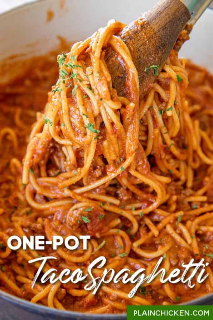 pot of spaghetti