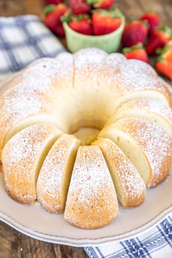 pound cake on a platter