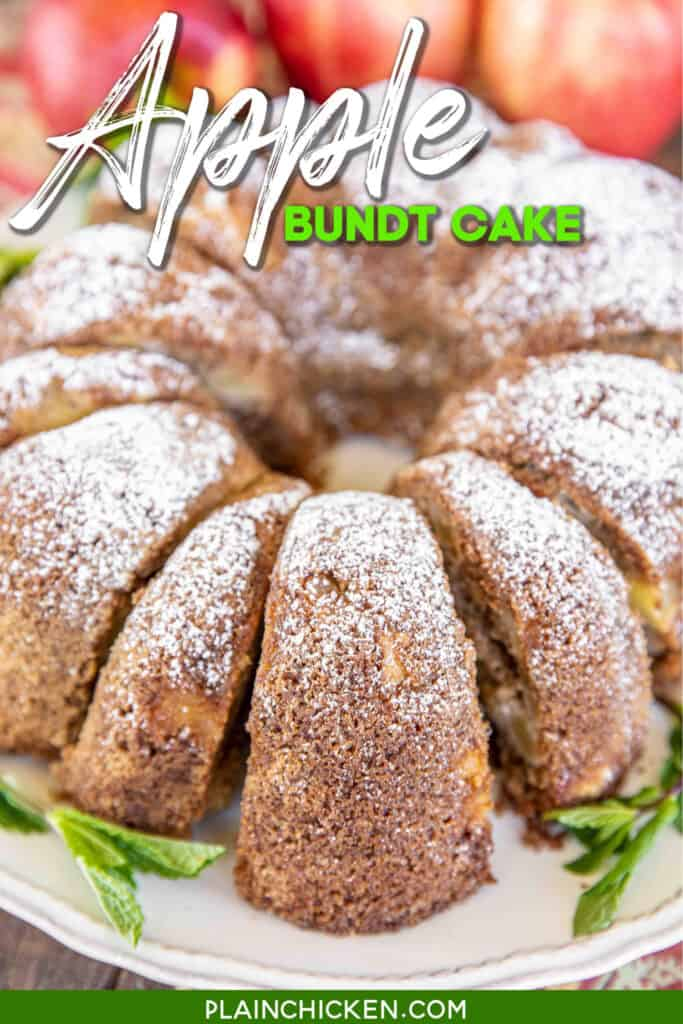 sliced apple bundt cake