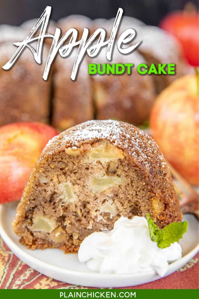 slice of apple bundt cake