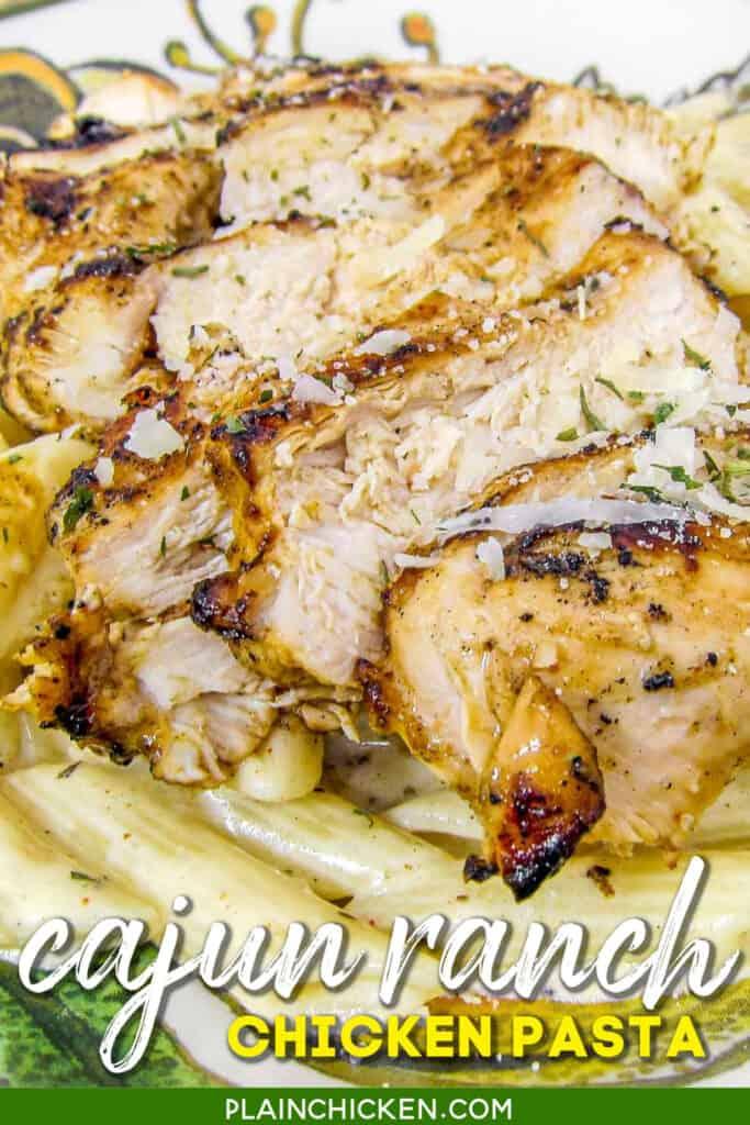 plate of chicken pasta