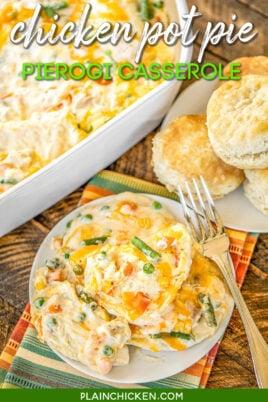 pierogi casserole on a plate