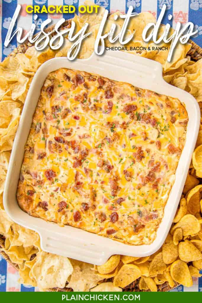 baking dish with bacon dip
