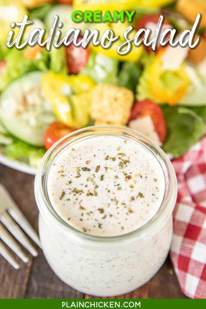 jar of creamy italian dressing