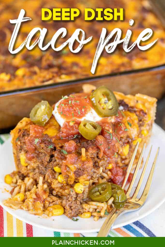 slice of taco rice casserole