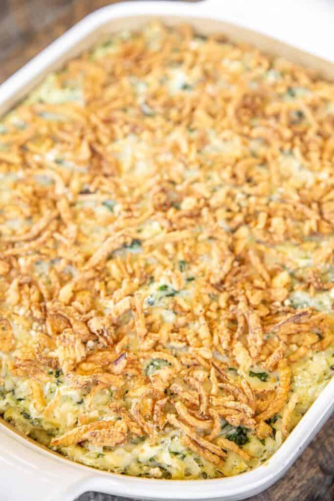 chicken & rice in baking dish