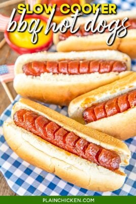 platter of hot dogs