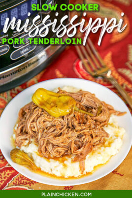 plate of pork tenderloin & grits