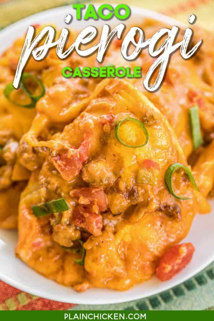 plate of pierogi casserole