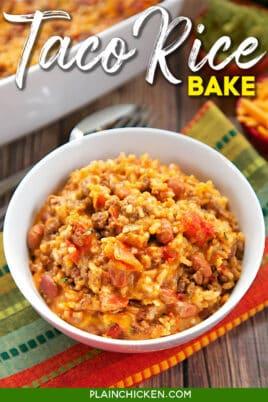 bowl of taco rice casserole