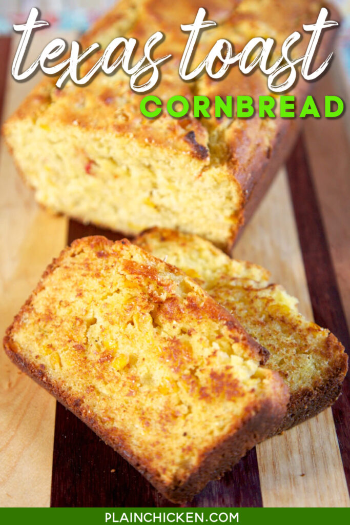 sliced loaf of cornbread