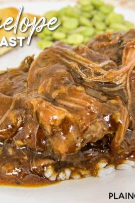 plate of pot roast