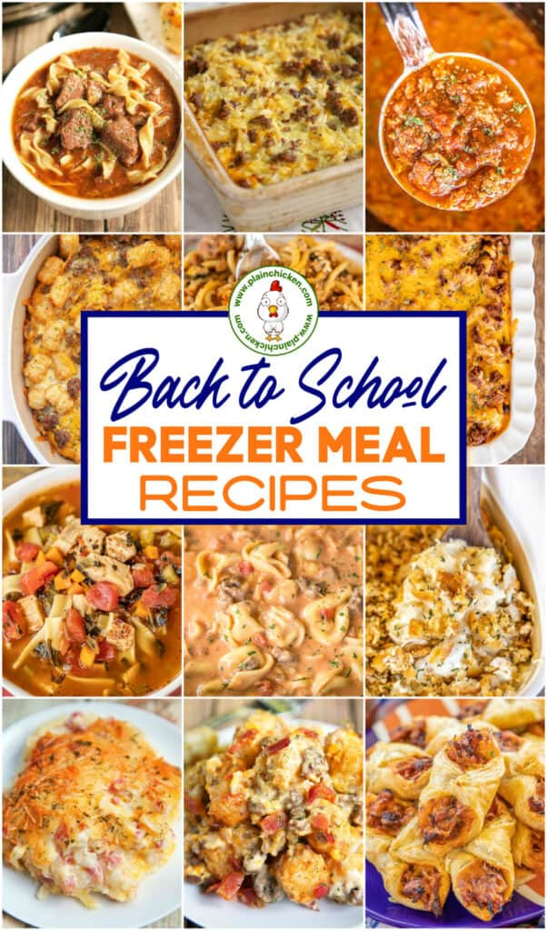 25 Freezer Meals For Back To School Plain Chicken