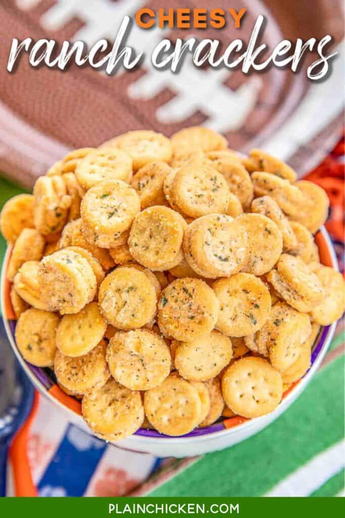 bowl of ranch ritz bits