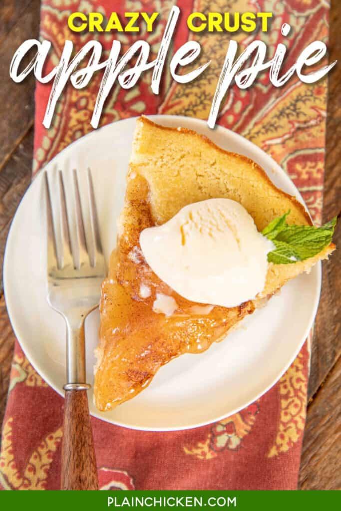 slice of crazy crust apple pie