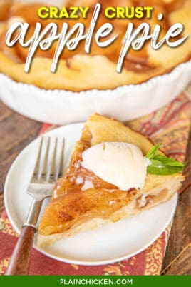slice of crazy crust apple pie