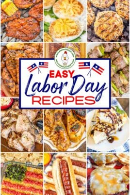 collage of labor day recipes