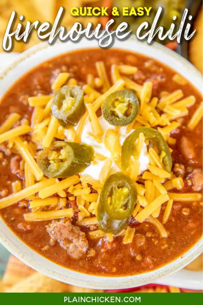 bowl fo firehouse chili
