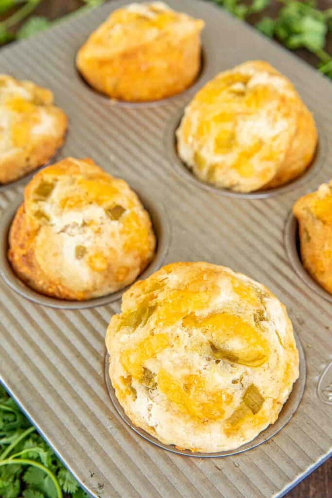 cheese muffin in muffin pan