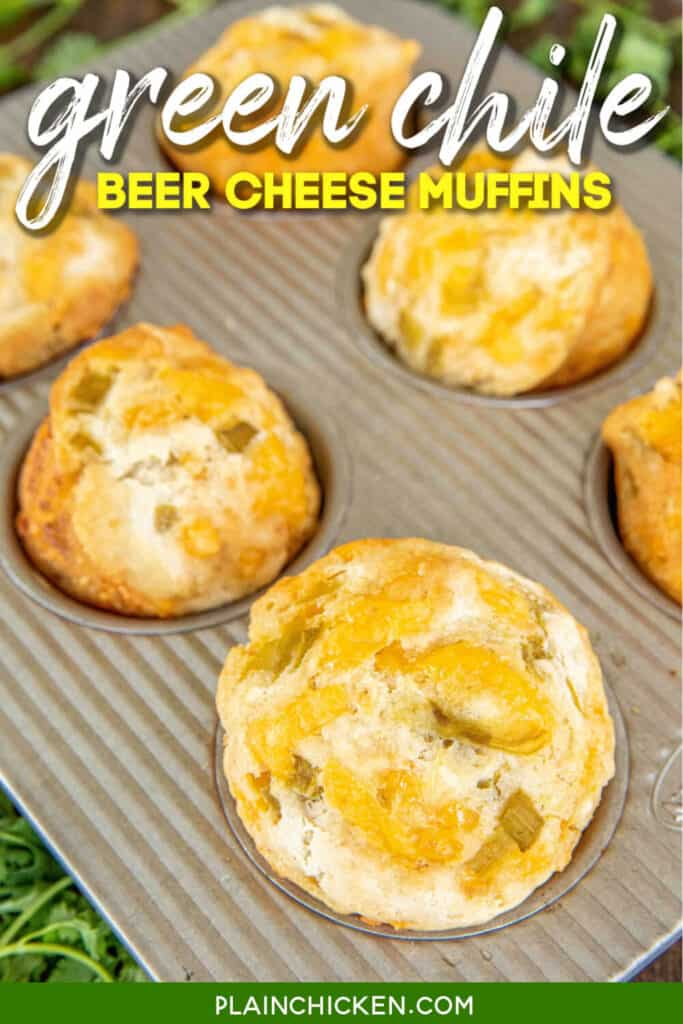 beer cheese muffins in muffin pan