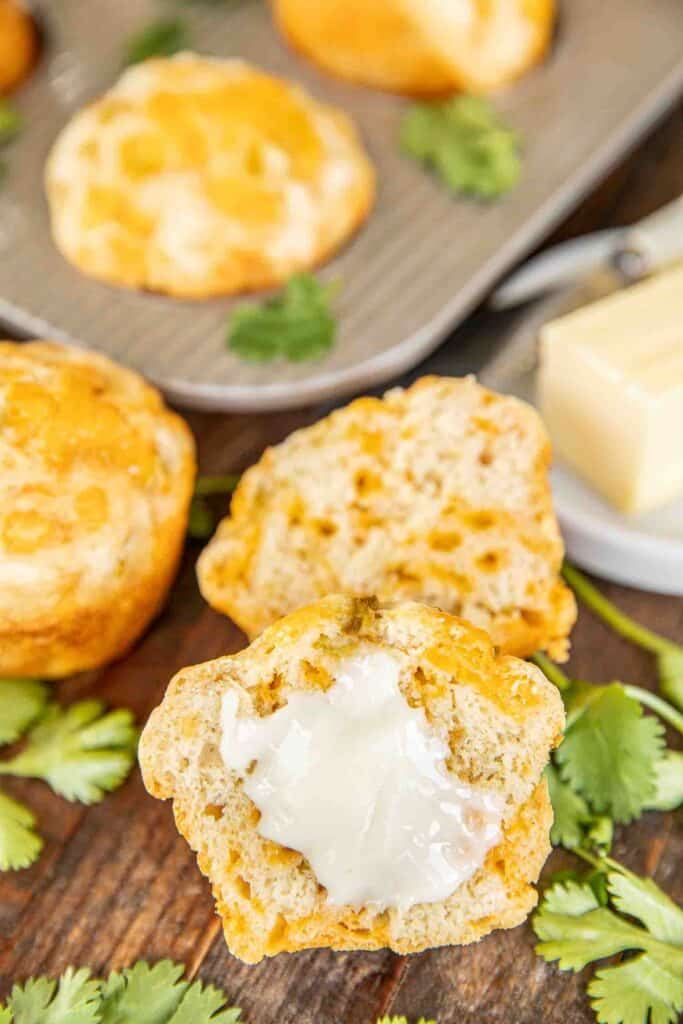 cheese muffins with butter