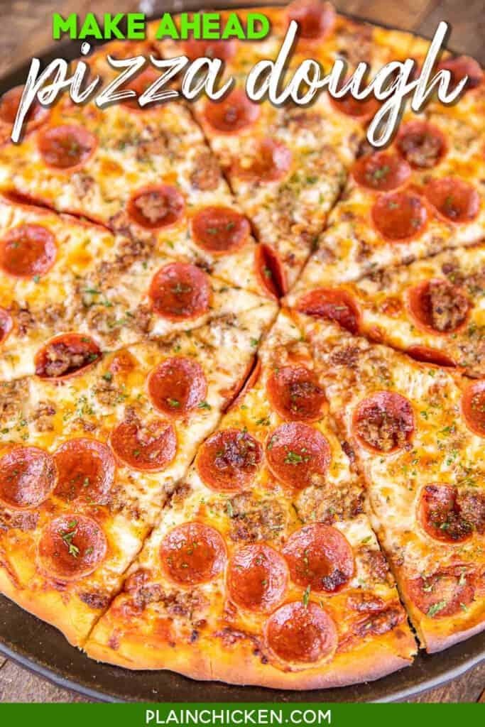 sliced pepperoni pizza