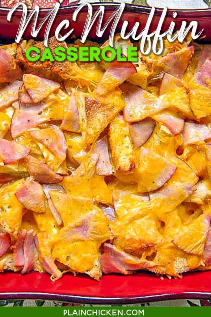 baking dish of breakfast casserole