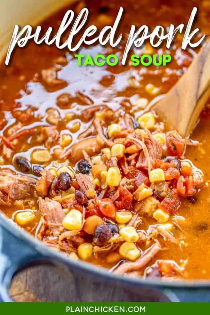 pot of taco soup