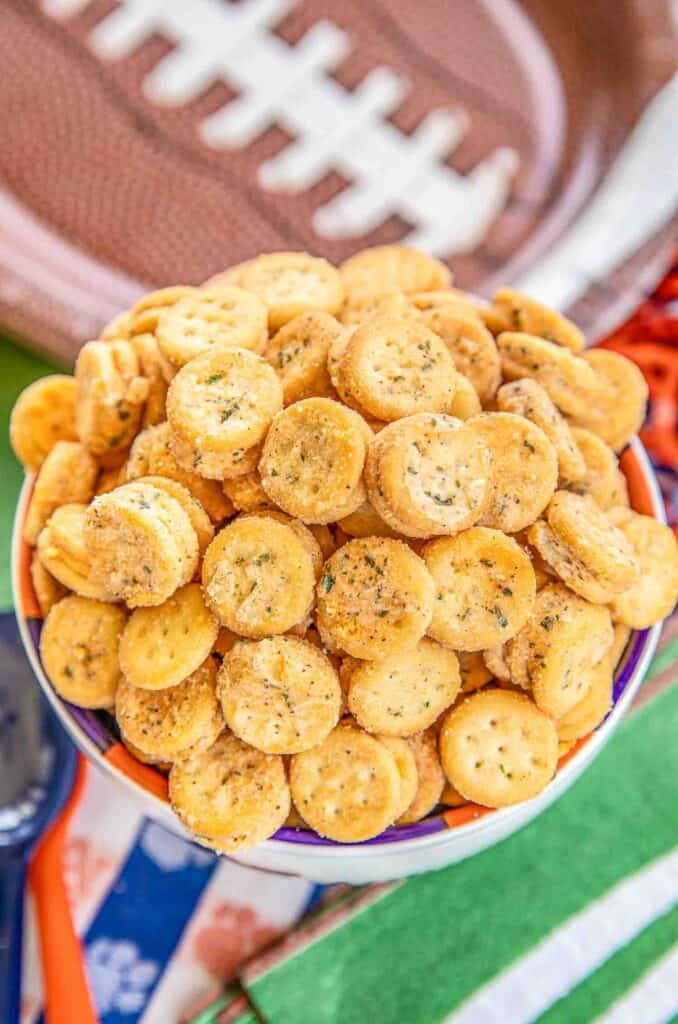 bowl of ranch crackers