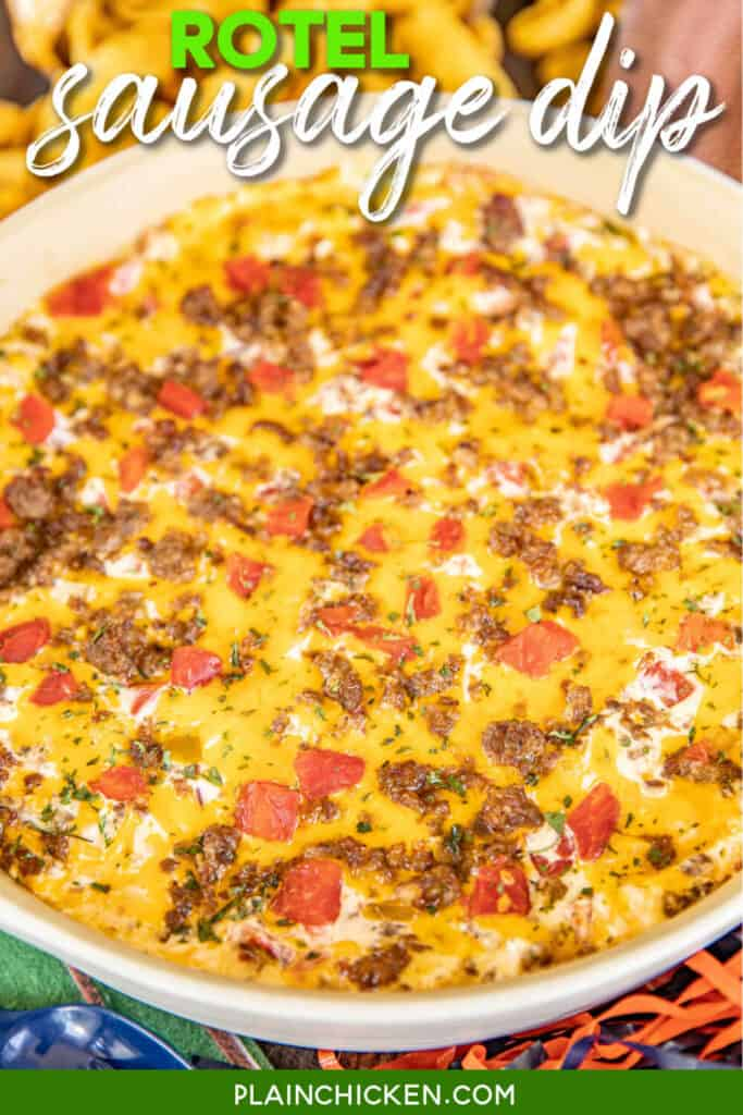sausage dip in baking dish