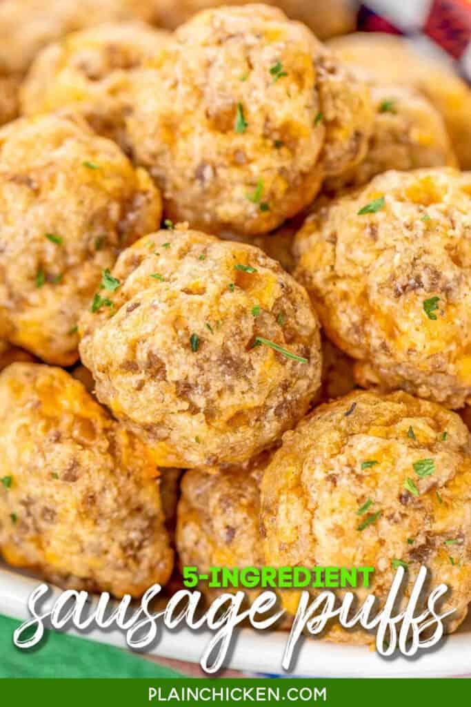 plate of sausage ball puffs
