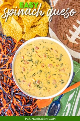 bowl of spinach queso