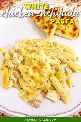 plate of chicken pasta