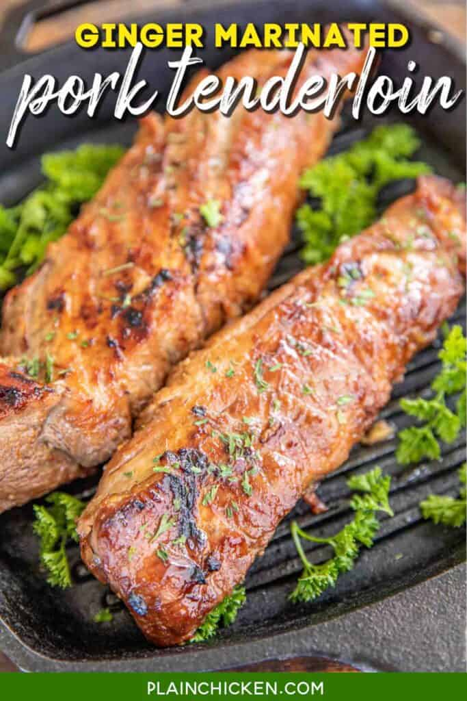 pork tenderloin in grill pan