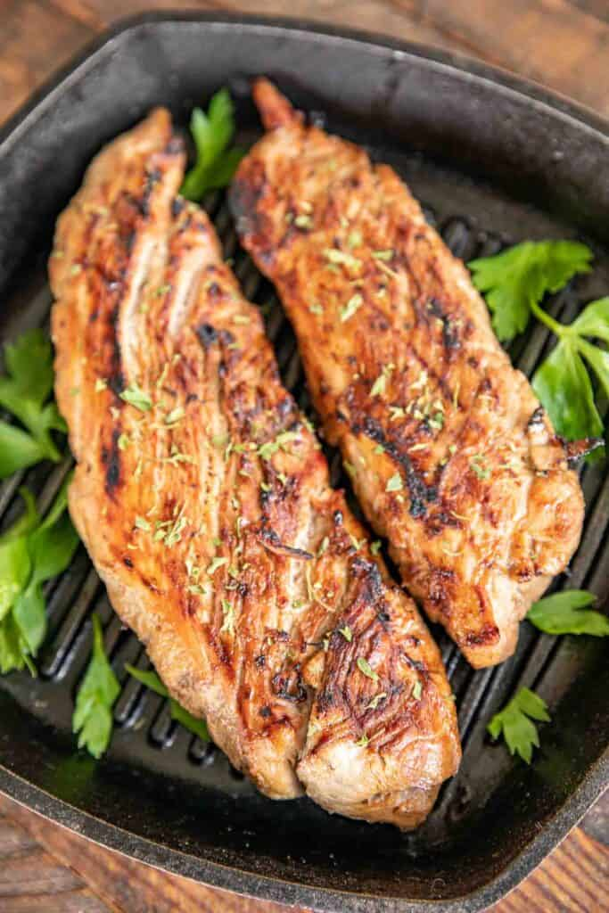 pork tenderloin in grill pan