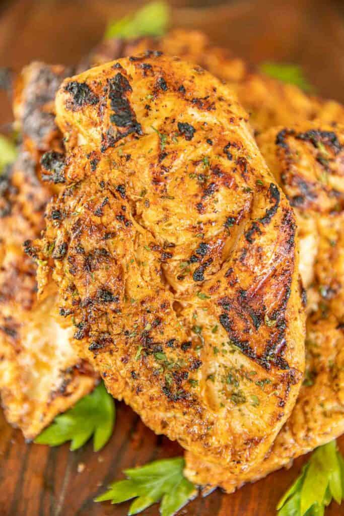 grilled chicken on a platter