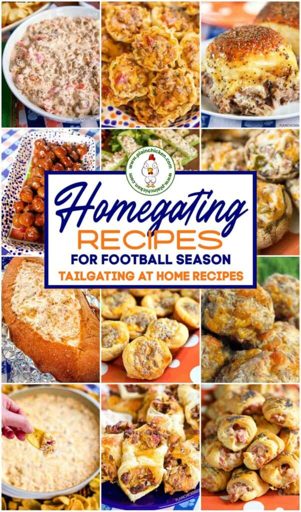 collage of tailgating recipes