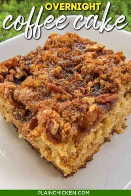 slice of coffee cake on a plate