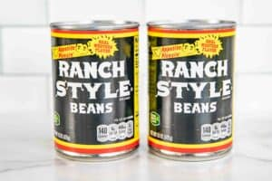 cans of ranch style beans