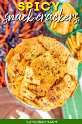 bowl of spicy crackers