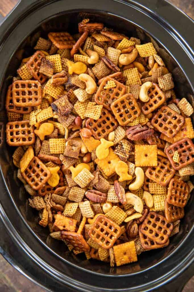 chex mix in crockpot