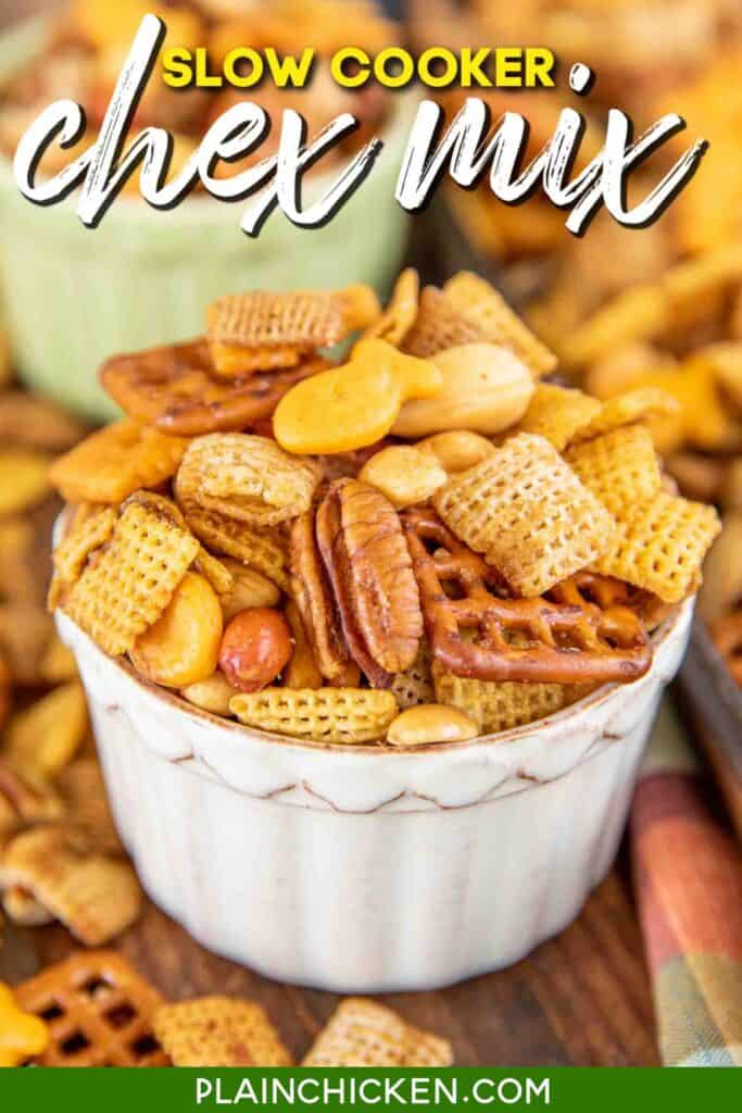 bowl of chex mix
