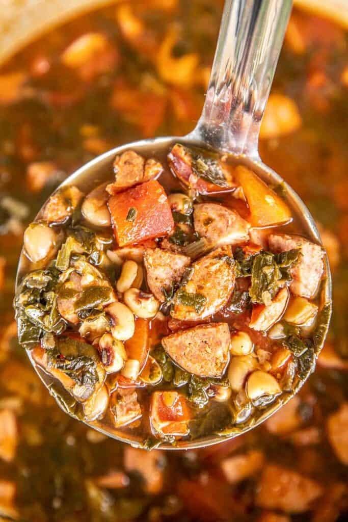 ladle of soup