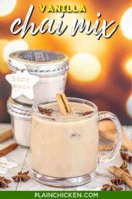mug of vanilla chai drink