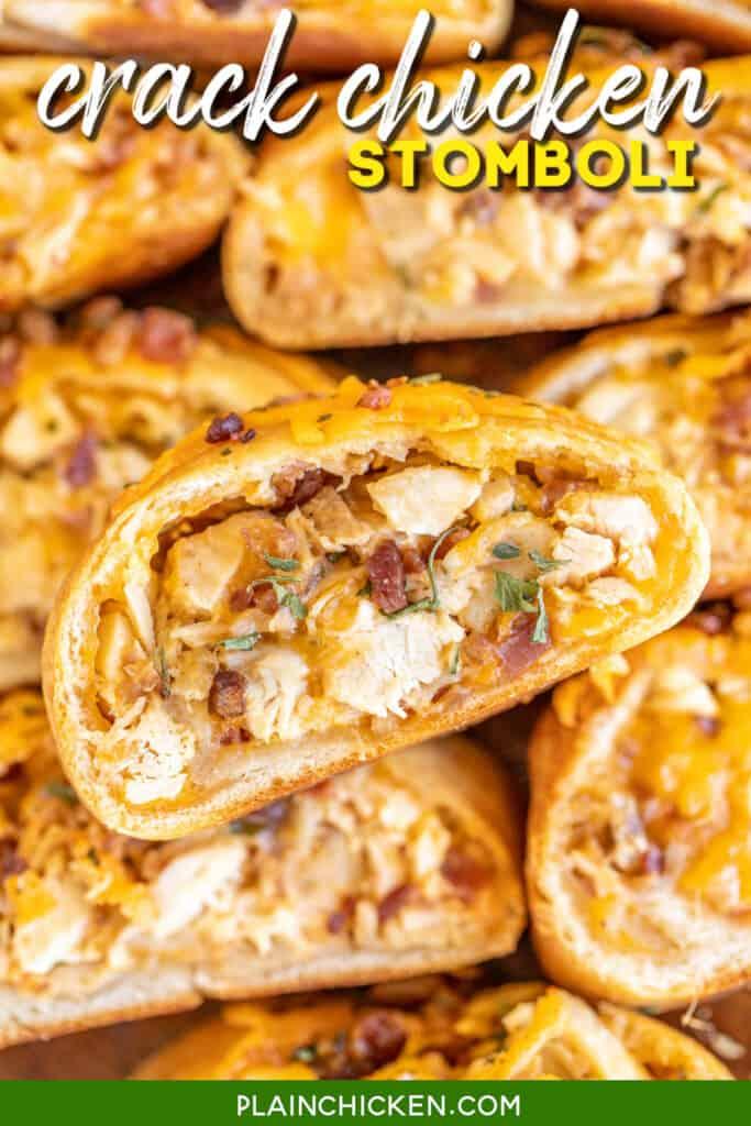 platter of chicken bacon ranch stuffed bread