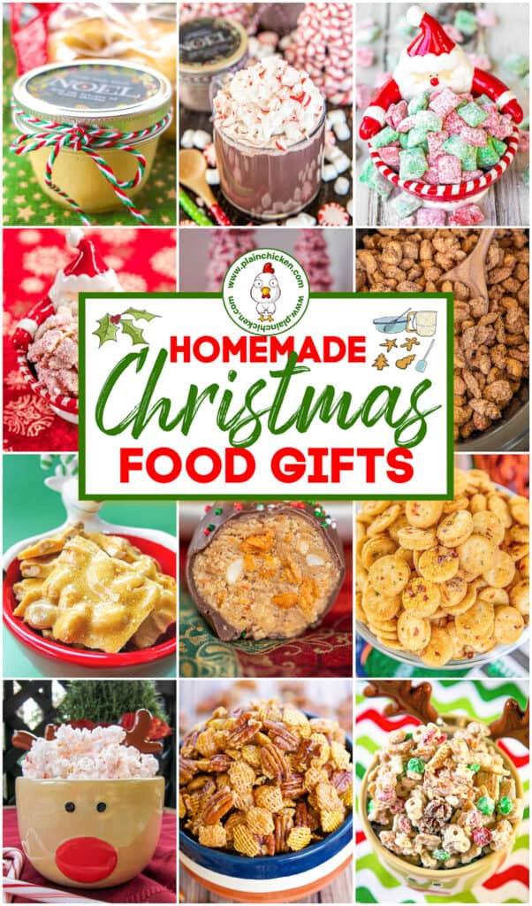 collage of homemade food gift photos