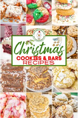 collage of christmas cookies and bars