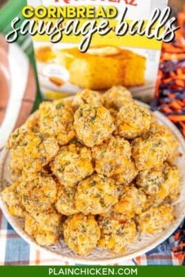 plate of cornbread sausage balls