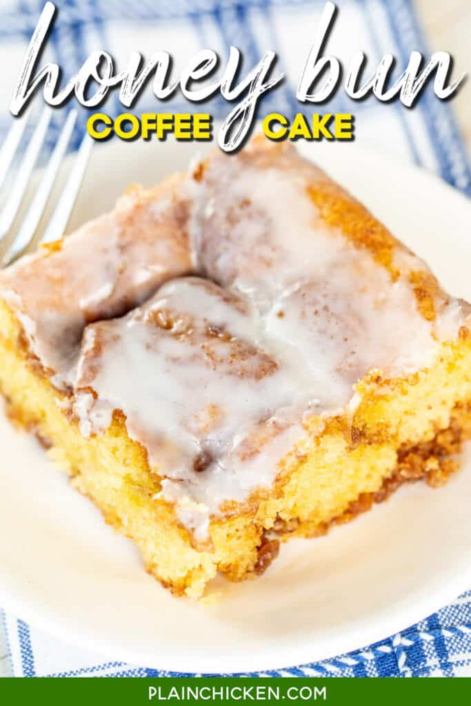slice of honey bun coffee cake