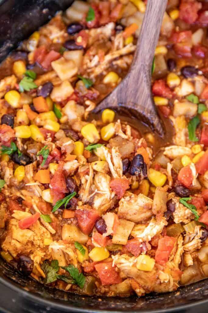 crockpot of chicken stew